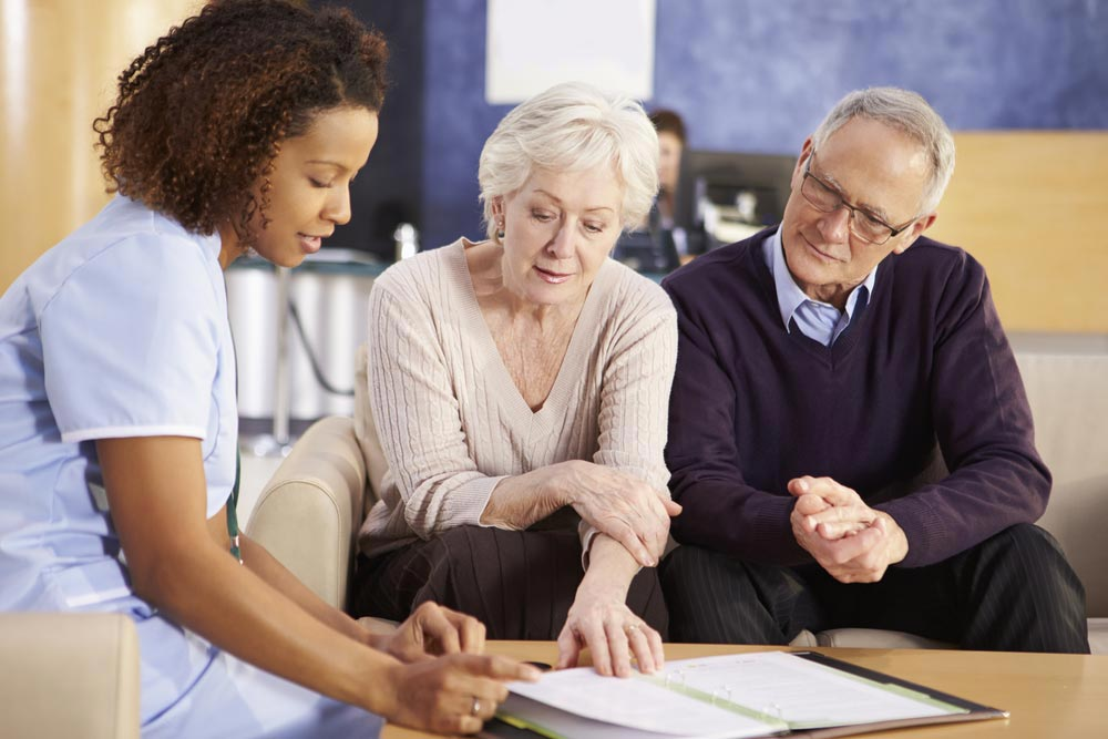 Please Read Carefully: Study Nurse and patients discuss clinical trial consent information